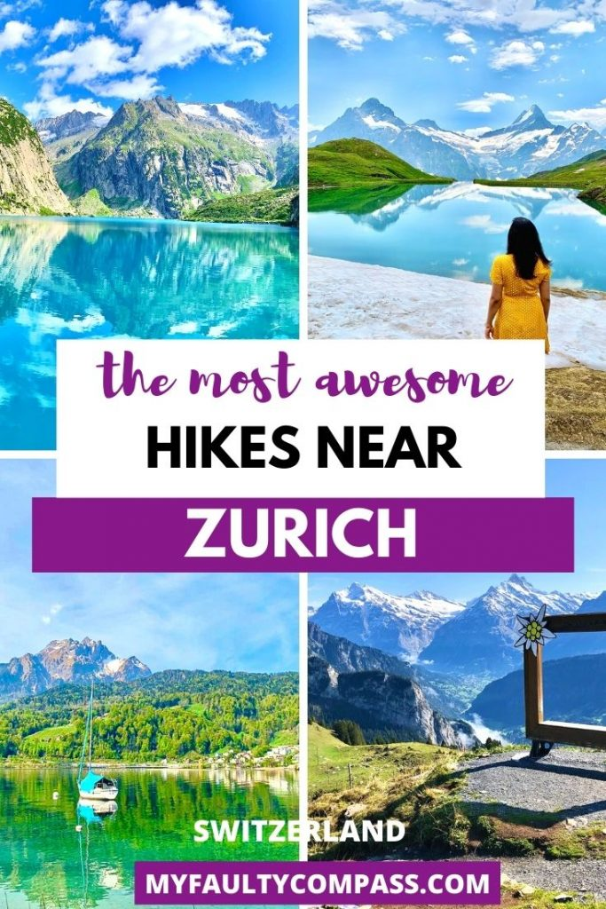 Hiking in & around Zurich is one of the best things to do while in the city to see some of the most incredible, untouched beauty of the Swiss Alps. Zurich is located perfectly to explore some of the best hikes in Switzerland. Read on for a local's guide to the most recommended hikes near Zurich!Hiking Switzerland | Hike Zurich | Places to visit Switzerland | Hidden gems Switzerland | Hiking Swiss Alps | Switzerland travel | Nature | #MyFaultyCompass #Switzerland #HikingSwitzerland #SwissAlps