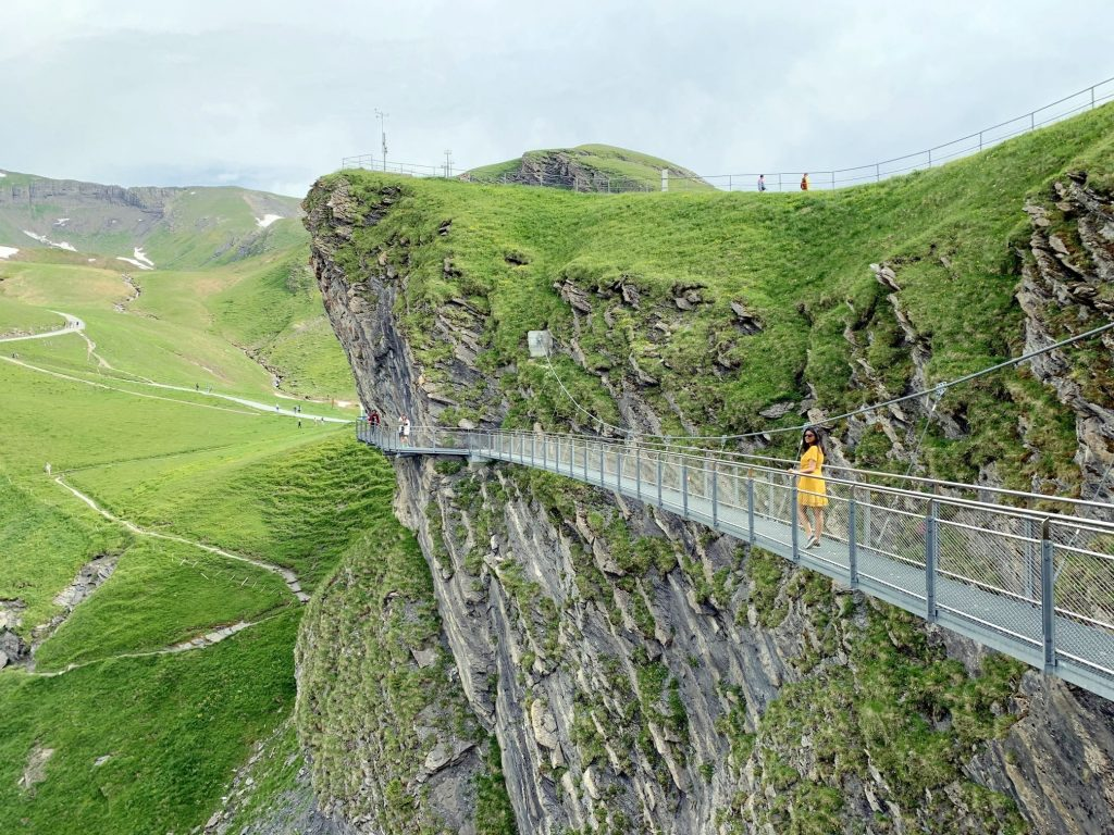 Cliff walk at Grindelwald First
