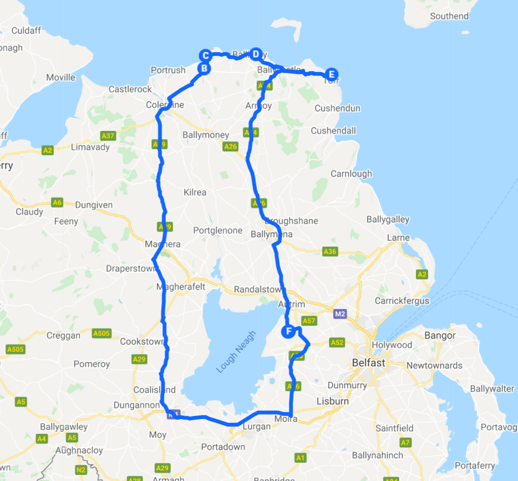 Causeway Coastal Route Map_Northern Ireland