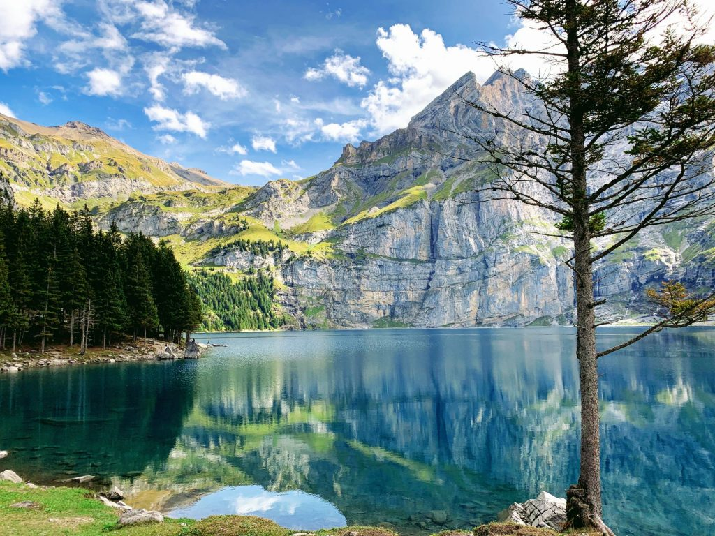 The spectacular Lake Oeschinen