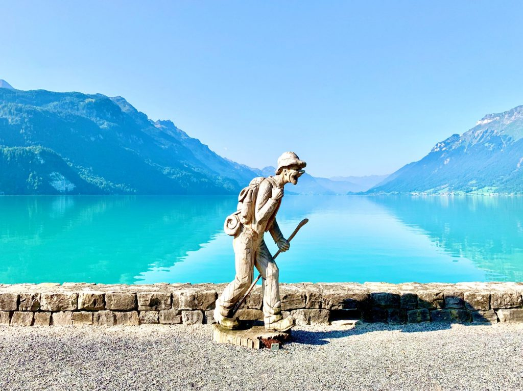 Brienz wood carvings  at Lake Brienz promenade