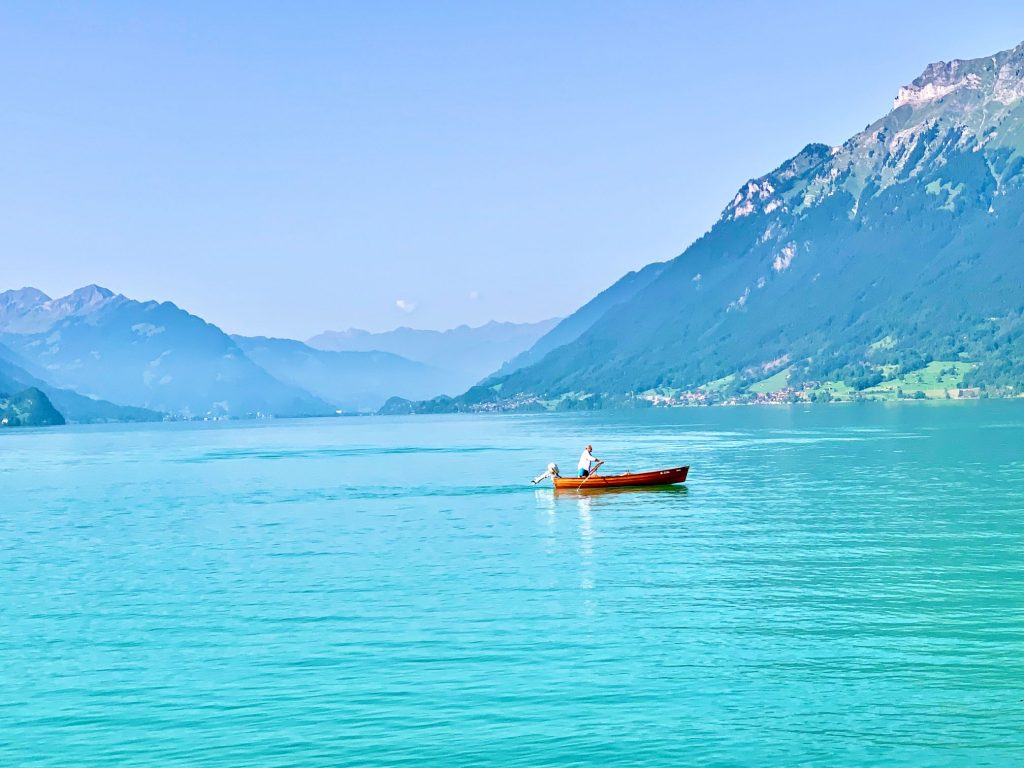 Boating on Lake Brienz