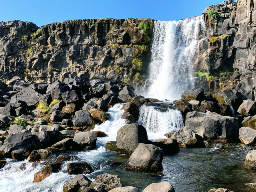 One of the best waterfalls in Iceland - Oxararfoss