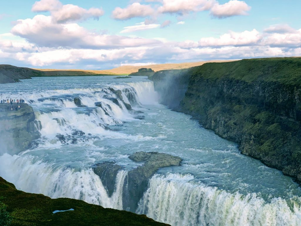 One of the most beautiful waterfalls in Iceland - Gullfoss