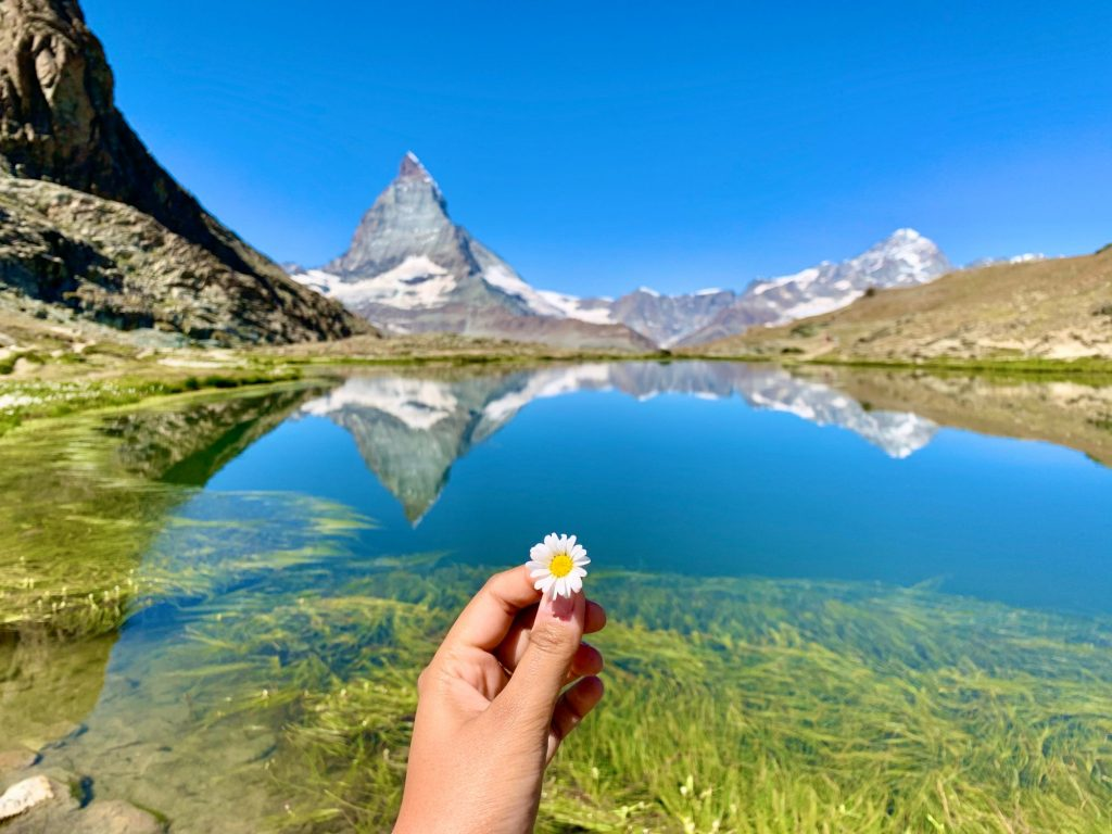 The magnificent Matterhorn reflected in Riffelsee