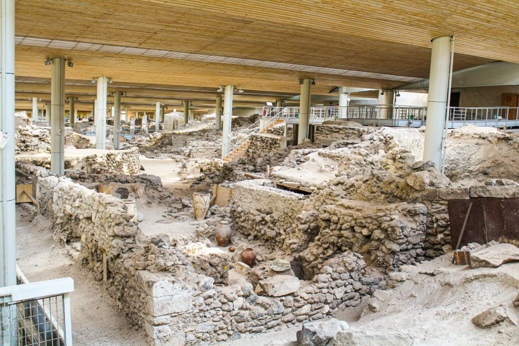 The ruins of Akrotiri in Santorini