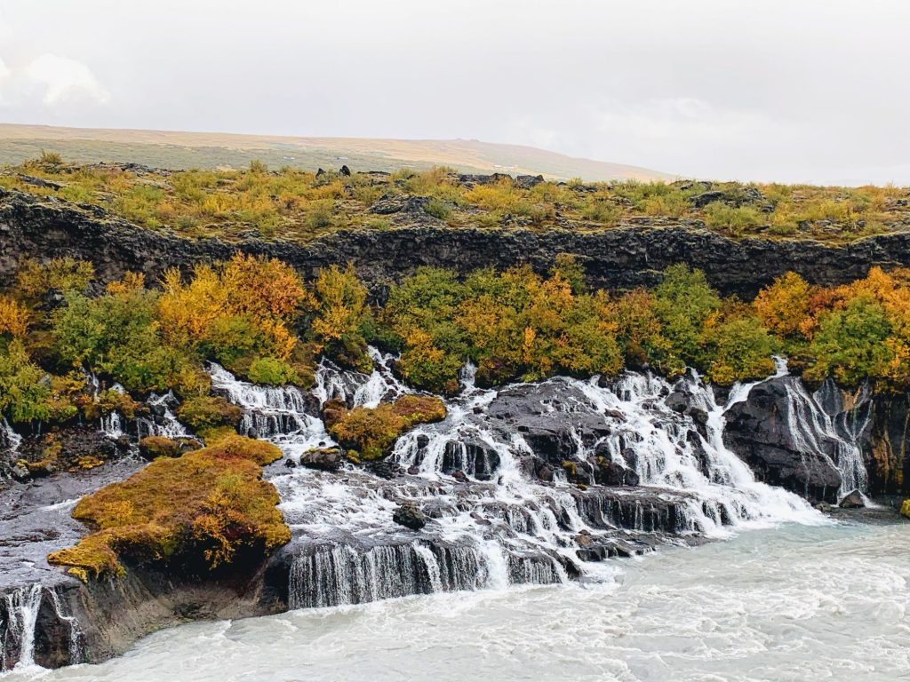 One of the most beautiful waterfalls in Iceland - Hraunfossar