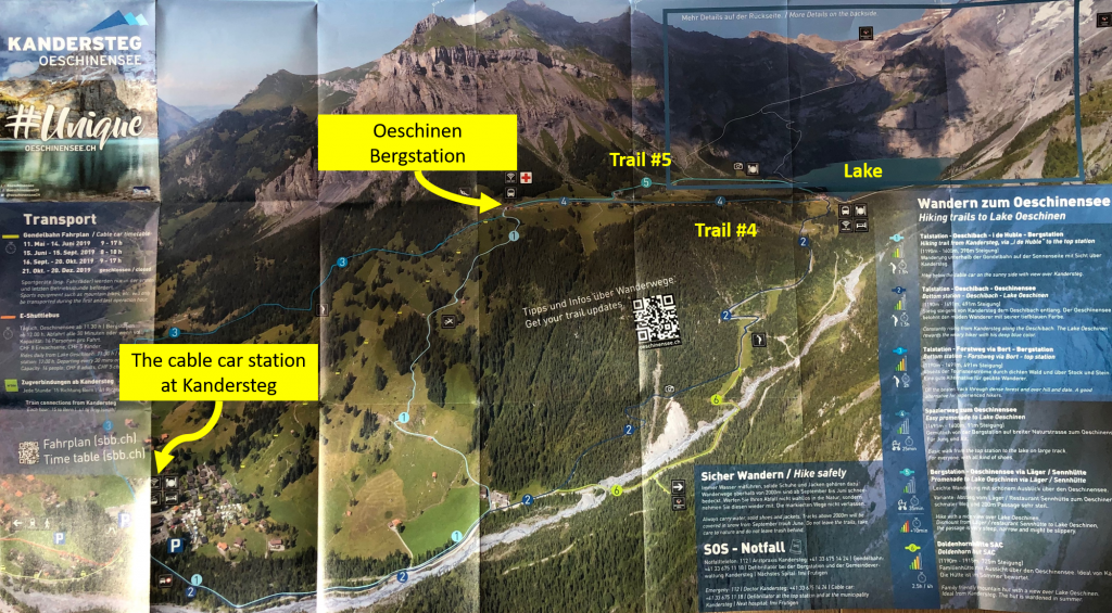 Oeschinensee hiking map