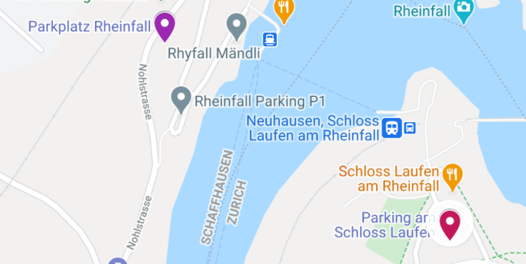 Parking at Rhine Falls_Map