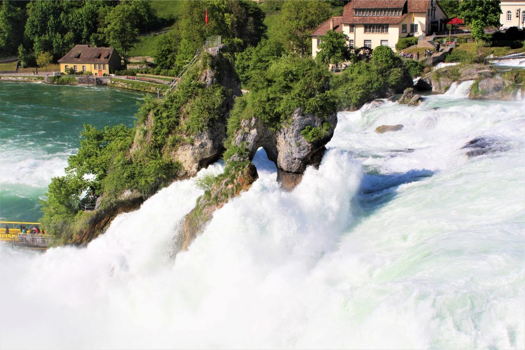 Rhine Falls - you can visit the island in between on a boat