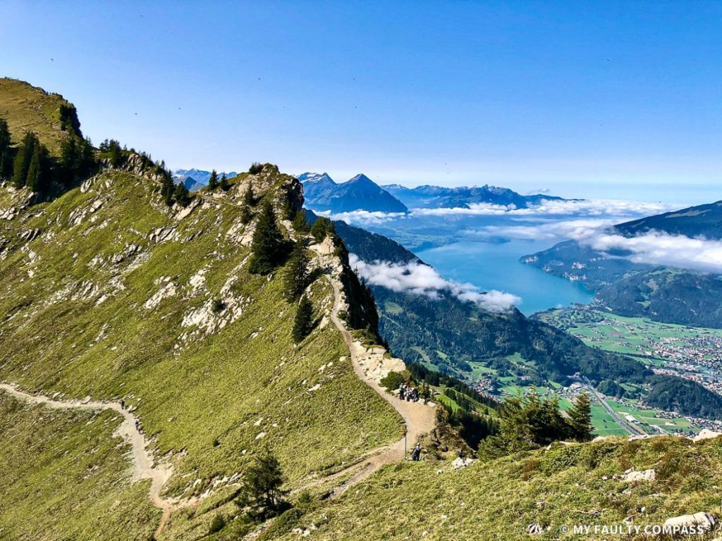 Walking along the ridge at Schilthorn is one of the best experiences to be had in the Swiss Alps