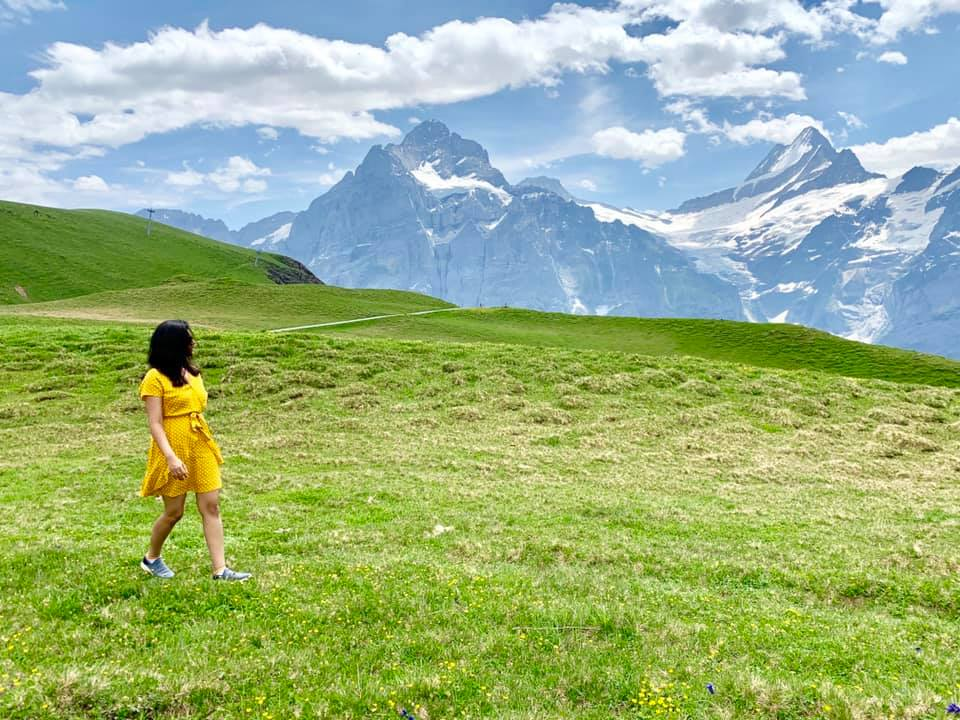 Hike from Grindelwald First to Bachalpsee through the Bernese Oberland mountains