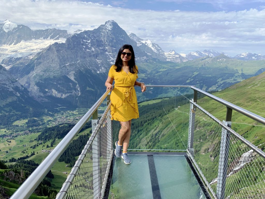 Cliff walk at Grindelwald First - the last stop