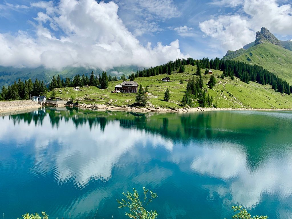 The stunningly beautiful Lake Bannalp
