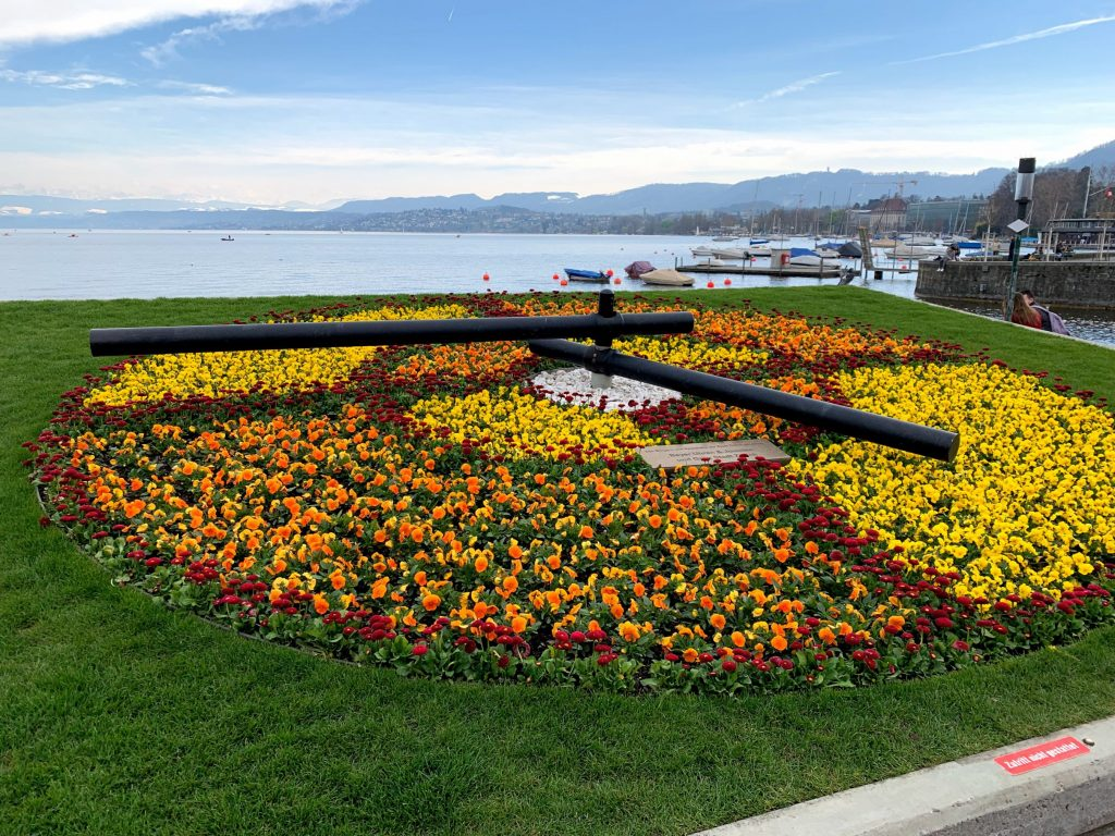 Zurich in spring is beautiful - vivid colours and bright flowers liven up the city