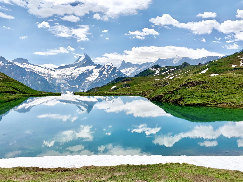 Bachalpsee - the most beautiful lake in Switzerland; Stunningly pretty lake in Switzerland